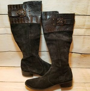 Mark Fisher suede tall black boots size 7